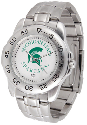 Michigan State Spartans Gameday Sport Men's Watch with a Metal Band