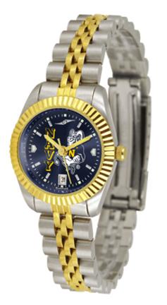 Navy Midshipmen Ladies Executive AnoChrome Watch
