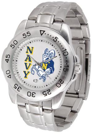 Navy Midshipmen Sport Steel Band Men's Watch
