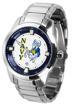 Navy Midshipmen Titan Steel Watch