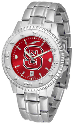 North Carolina State Wolfpack Competitor AnoChrome Men's Watch with Steel Band