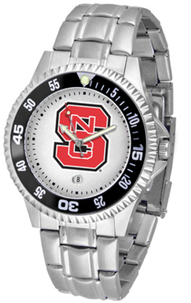 North Carolina State Wolfpack Competitor Men's Watch with a Metal Band
