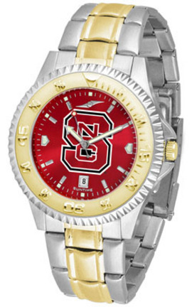 North Carolina State Wolfpack Competitor AnoChrome Two Tone Men's Watch