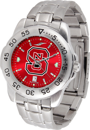 North Carolina State Wolfpack Sport Steel Band Ano-Chrome Men's Watch