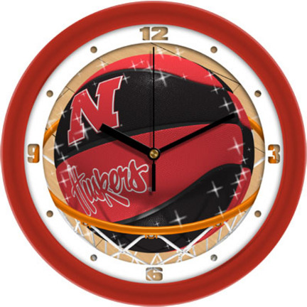 Nebraska Cornhuskers Slam Dunk 12 inch Wall Clock
