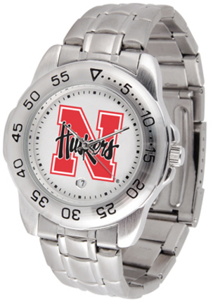 Nebraska Cornhuskers Sport Steel Band Men's Watch