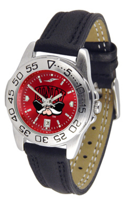 Las Vegas (UNLV) Runnin' Rebels Sport AnoChrome Ladies Watch with Leather Band