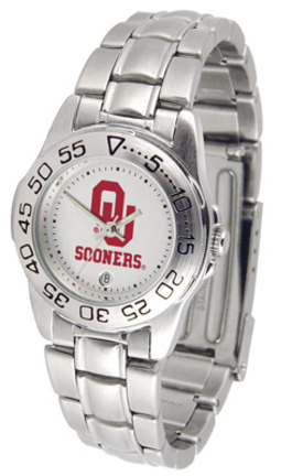 Oklahoma Sooners Gameday Sport Ladies' Watch with a Metal Band