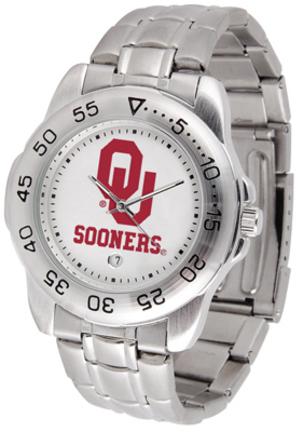 Oklahoma Sooners Sport Steel Band Men's Watch
