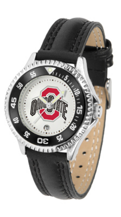 Ohio State Buckeyes Competitor Ladies Watch with Leather Band
