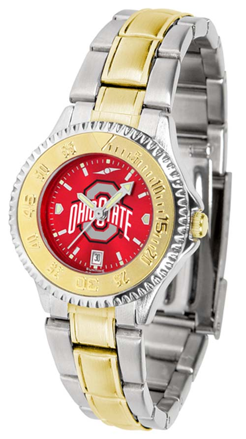 Ohio State Buckeyes Competitor AnoChrome Ladies Watch with Two-Tone Band