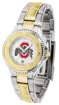 Ohio State Buckeyes Competitor Ladies Watch with Two-Tone Band