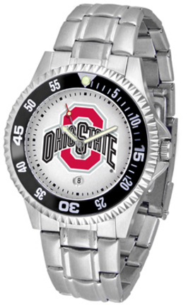 Ohio State Buckeyes Competitor Watch with a Metal Band