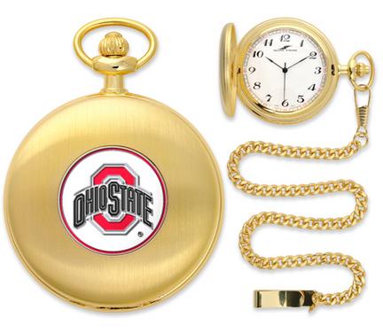Ohio State Buckeyes Gold Pocket Watch