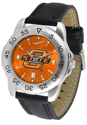 Oklahoma State Cowboys Sport AnoChrome Men's Watch with Leather Band