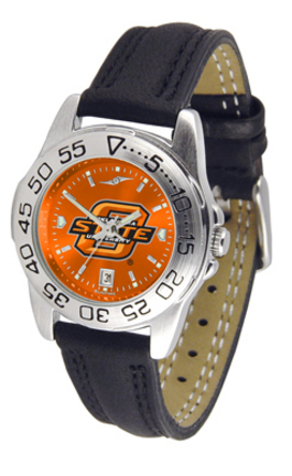 Oklahoma State Cowboys Sport AnoChrome Ladies Watch with Leather Band
