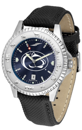 Penn State Nittany Lions Competitor AnoChrome Men's Watch with Nylon/Leather Band