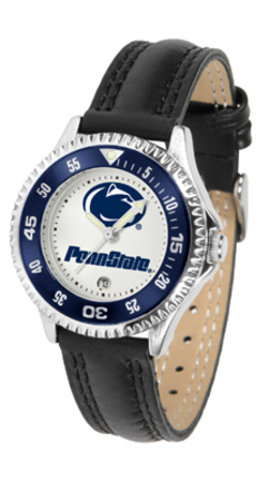 Penn State Nittany Lions Competitor Ladies Watch with Leather Band