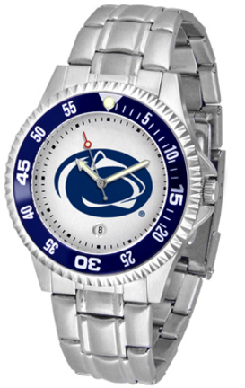 Penn State Nittany Lions Competitor Men's Watch with a Metal Band