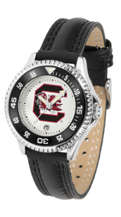 South Carolina Gamecocks Competitor Ladies Watch with Leather Band