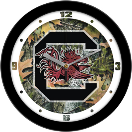 South Carolina Gamecocks 12 inch Camo Wall Clock