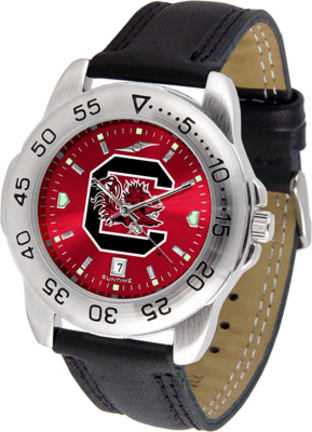 South Carolina Gamecocks Sport AnoChrome Men's Watch with Leather Band