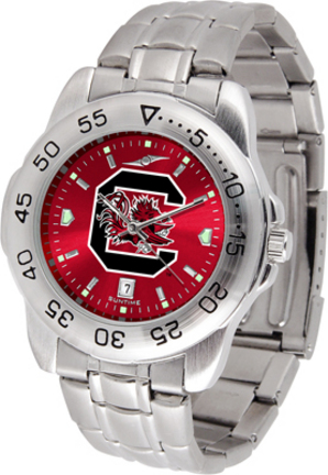 South Carolina Gamecocks Sport Steel Band Ano-Chrome Men's Watch