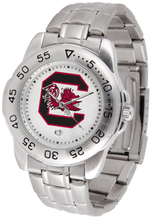 South Carolina Gamecocks Sport Steel Band Men's Watch