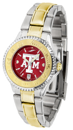 Texas A & M Aggies Competitor AnoChrome Ladies Watch with Two-Tone Band