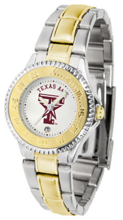 Texas A & M Aggies Competitor Ladies Watch with Two-Tone Band