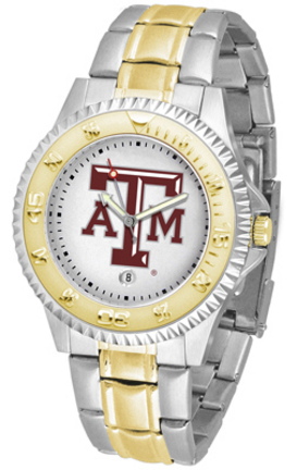 Texas A & M Aggies Competitor Two Tone Watch