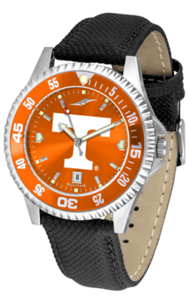 Tennessee Volunteers Competitor AnoChrome Men's Watch with Nylon/Leather Band and Colored Bezel