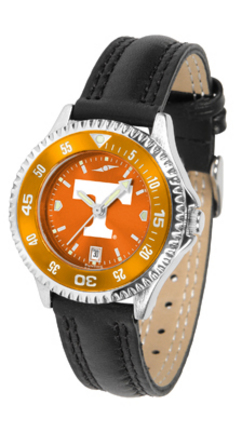 Tennessee Volunteers Competitor Ladies AnoChrome Watch with Leather Band and Colored Bezel