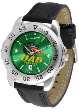 Alabama (Birmingham) Blazers Sport AnoChrome Men's Watch with Leather Band
