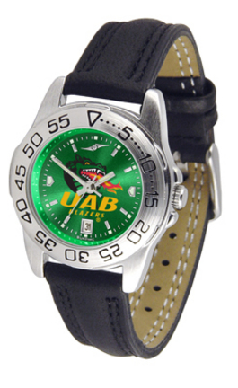 Alabama (Birmingham) Blazers Sport AnoChrome Ladies Watch with Leather Band
