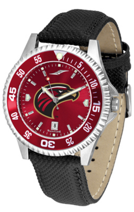 Louisiana (Monroe) Warhawks Competitor AnoChrome Men's Watch with Nylon/Leather Band and Colored Bezel