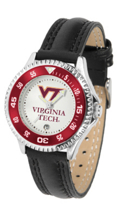 Virginia Tech Hokies Competitor Ladies Watch with Leather Band