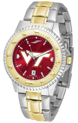 Virginia Tech Hokies Competitor AnoChrome Two Tone Watch