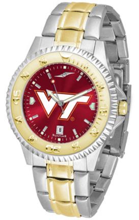 Virginia Tech Hokies Competitor AnoChrome Two Tone Watch