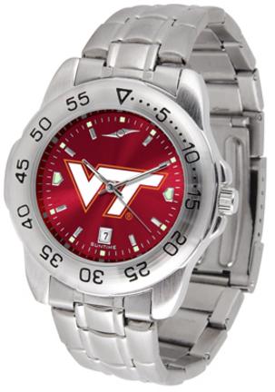 Virginia Tech Hokies Sport Steel Band Ano-Chrome Men's Watch