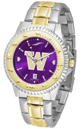 Washington Huskies Competitor AnoChrome Two Tone Men's Watch