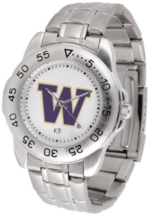 Washington Huskies Sport Steel Band Men's Watch