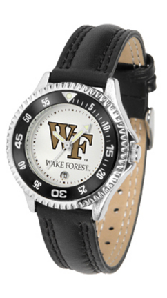 Wake Forest Demon Deacons Competitor Ladies Watch with Leather Band
