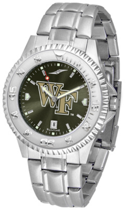 Wake Forest Demon Deacons Competitor AnoChrome Men's Watch with Steel Band