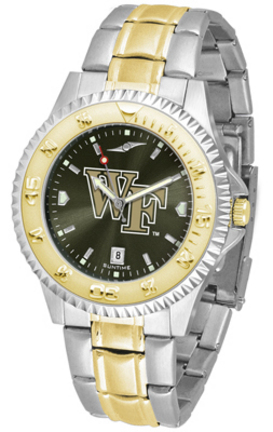 Wake Forest Demon Deacons Competitor AnoChrome Two Tone Men's Watch