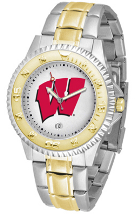 Wisconsin Badgers Competitor Two Tone Men's Watch