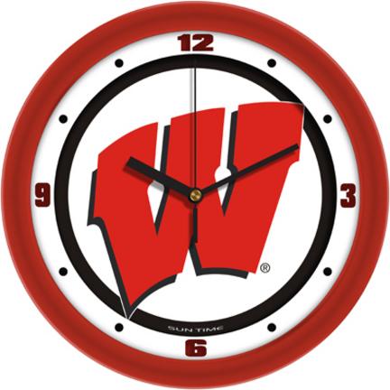 Badgers Wall Clock Wisconsin Badgers Wall Clock Badgers