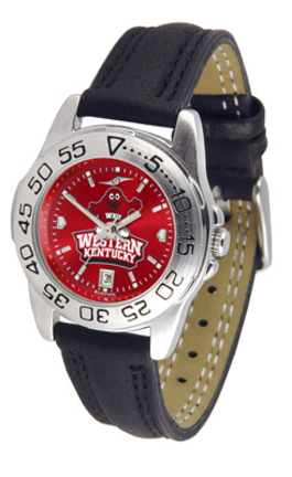 Western Kentucky Hilltoppers Sport AnoChrome Ladies Watch with Leather Band