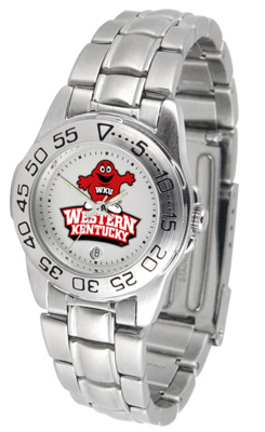 Western Kentucky Hilltoppers Ladies Sport Watch with Stainless Steel Band