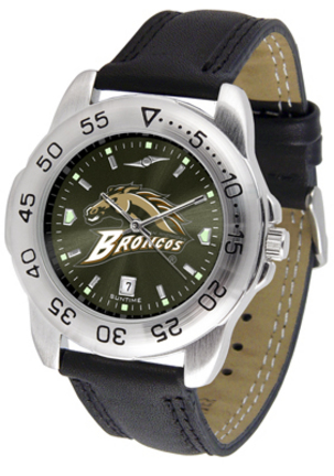 Western Michigan Broncos Sport AnoChrome Men's Watch with Leather Band